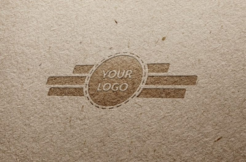 Paper Embossed Logo Mockup PSD