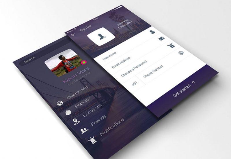 Perspective App Screen Mockup PSD