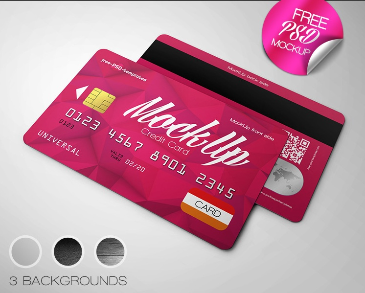 Photo Realistic Credit Card Mockup