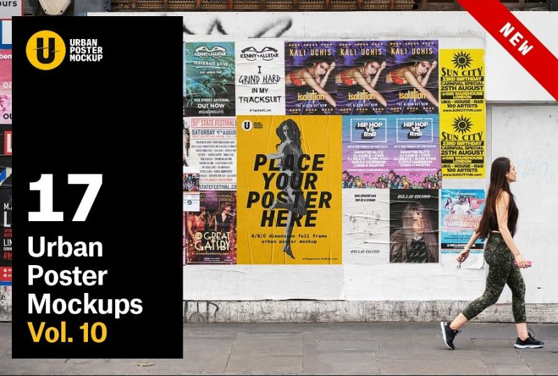 Photo Realistic Urban Poster Mockup Bundle