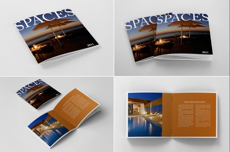 Photo Realistic Square Brochure Mockup