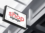 15+ Store Sign Mockup PSD Free Download for Branding
