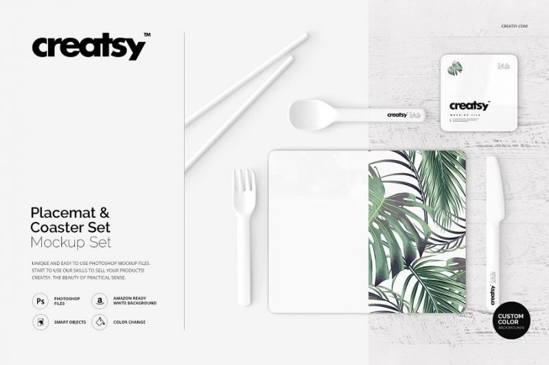 Placemat-and-Coaster-Mockup-Set