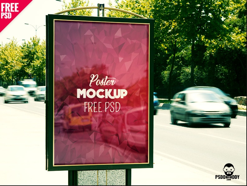 Professional Outdoor Poster Mockup free