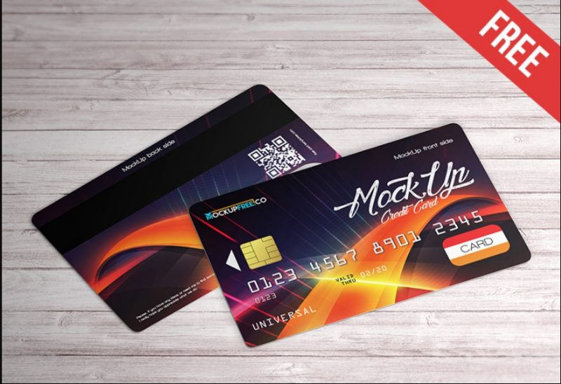 Professional Credit Card Mockup PSD