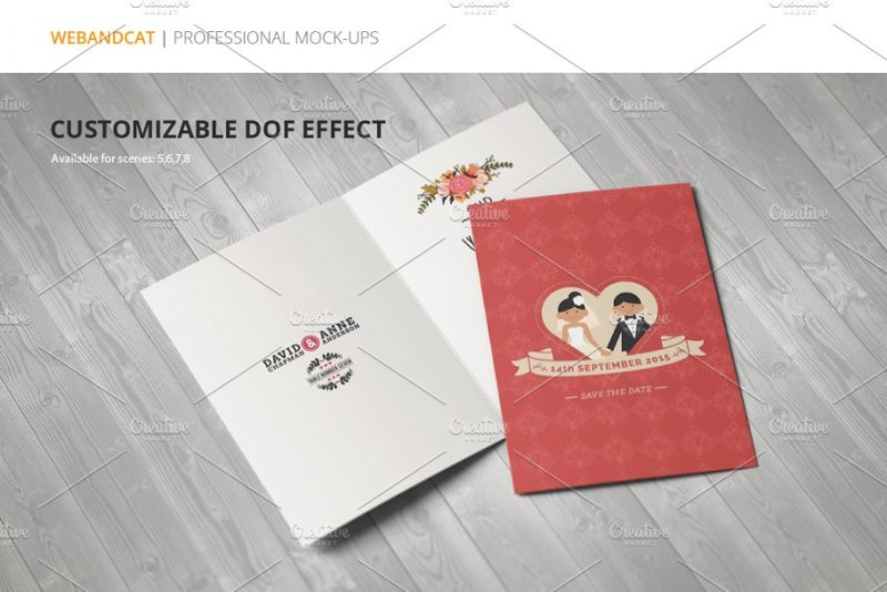 Professional Invitation Card Mockup