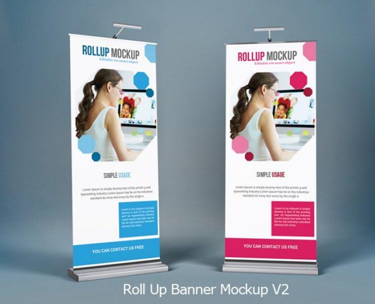 20+ Roll Up Banner Mockup PSD for Branding