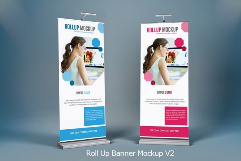 Professional Roll Up Banner Mockup