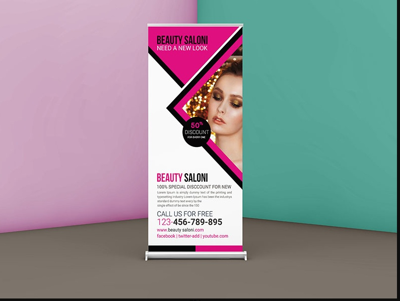 Promotional Roll Up Banner Mockup