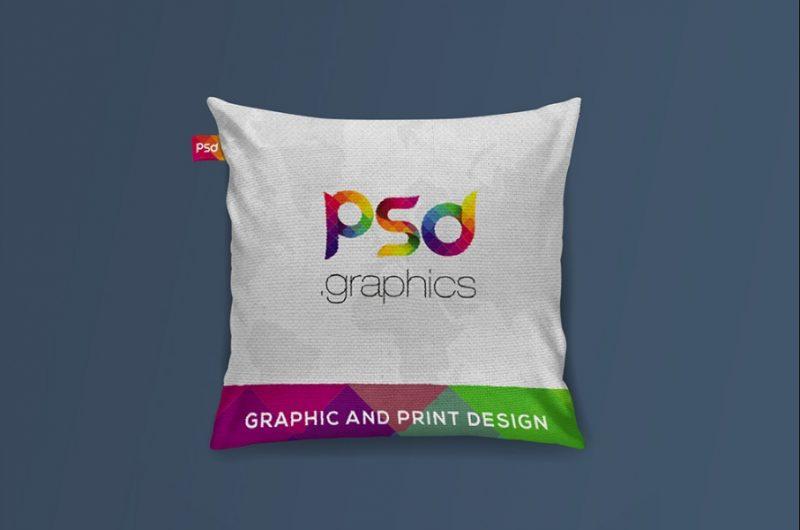 Realistic Cushion Mockup PSD Free