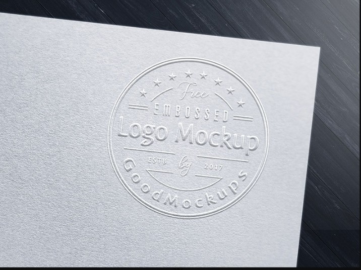 Realistic Embossed Logo Mockup PSD