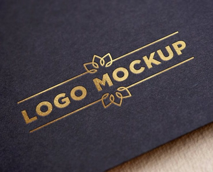 25+ Golden Logo Mockup PSD Free Download