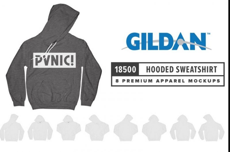 Realistic Hooded Sweatshirt Mockup PSD