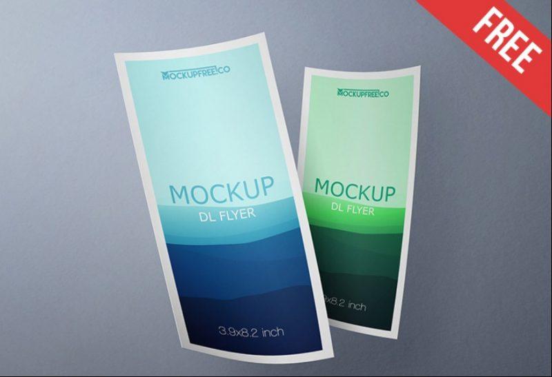Realistic Leaflet Mockup PSD