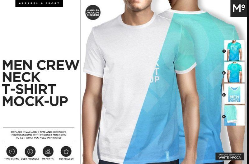 Realistic Mens T Shirt Mockup