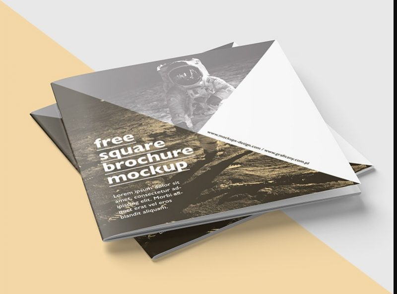 Realistic Square Catalog Mockup PSD