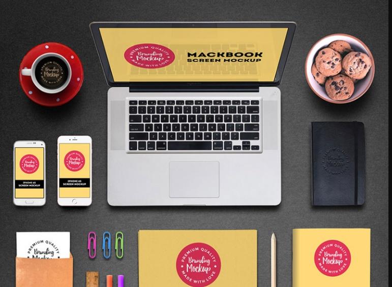 Realistic Stationary Branding Mockup PSD
