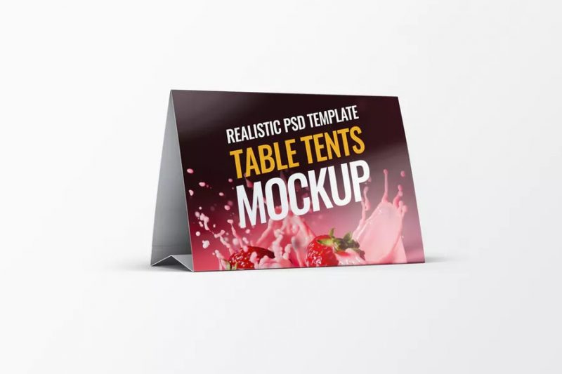 Realistic Table Tents Mockup