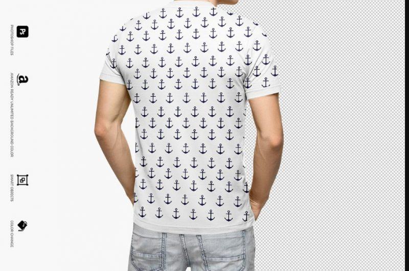 Realistic White T Shirt Design Mockup
