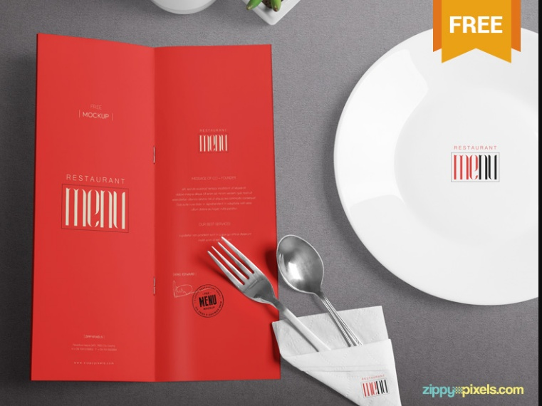 Restaurant Branding Mockup Free