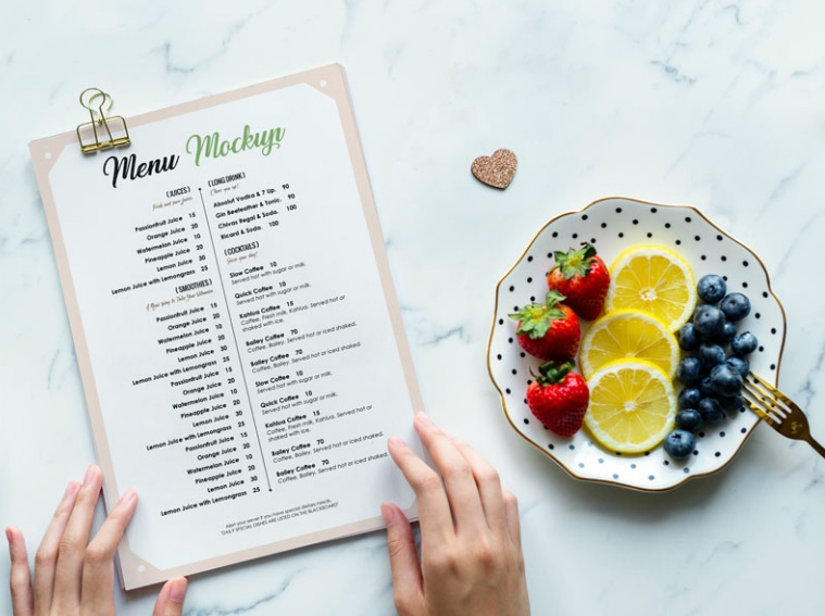 Restaurant Menu Flyer Mockup PSD
