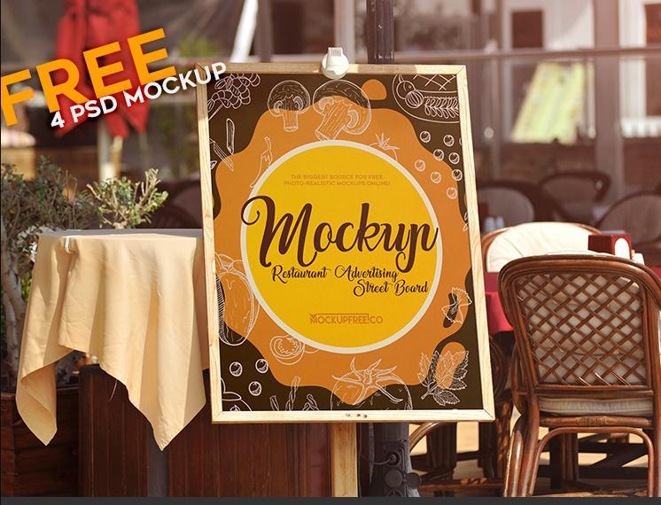 Restaurant Street Branding Mockup