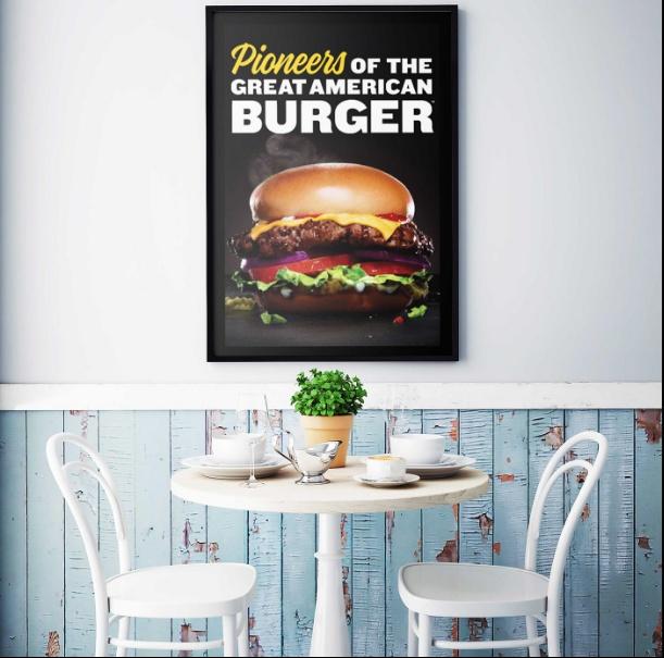 Restaurant Wall Poster Mockup Design