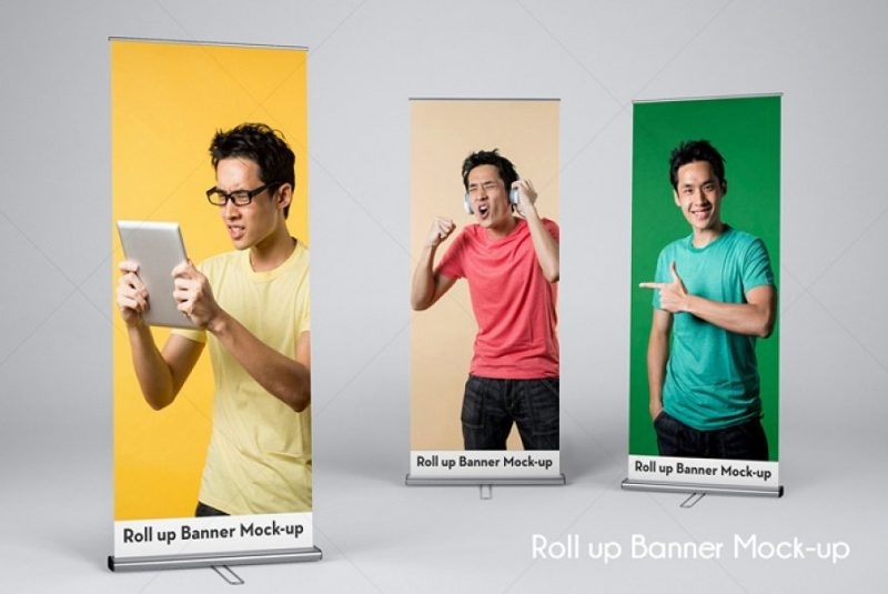Roll Up Banner Ad Mockup