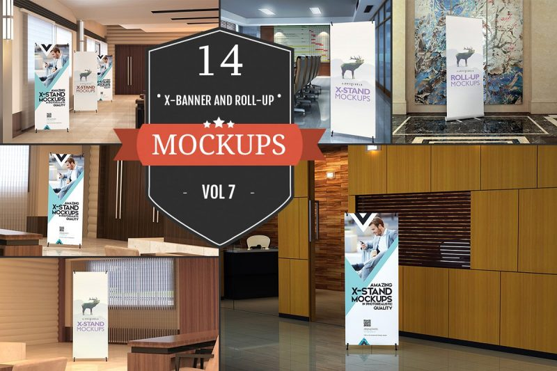 Roll Up Banner Mockup Bundle