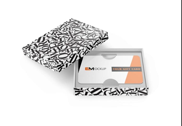 Shopping Gift Card Mockup PSD