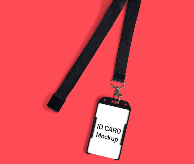 Simple ID Card Mockup PSD