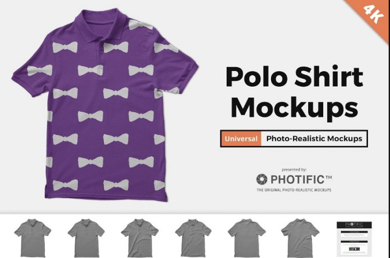Simple Polo Shirt Mockup PSD