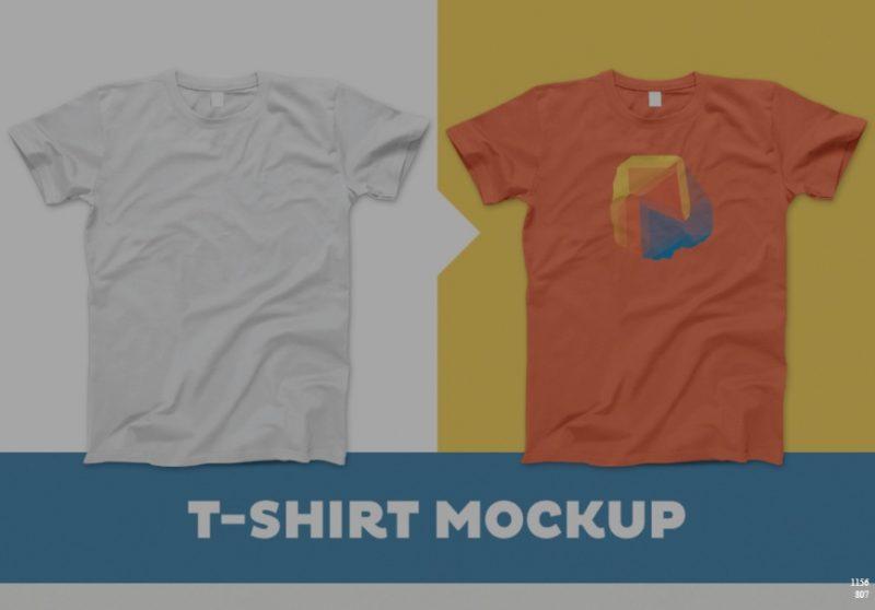 Simple T shirt Mockup PSD Free