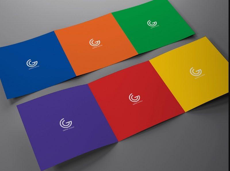 Simple Tri Fold Brochure Mockup