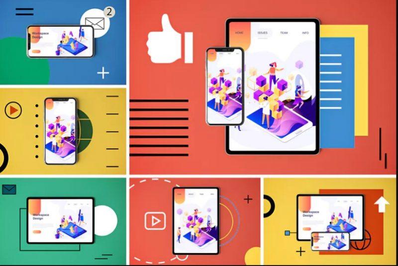 Social Media App Mockup PSD