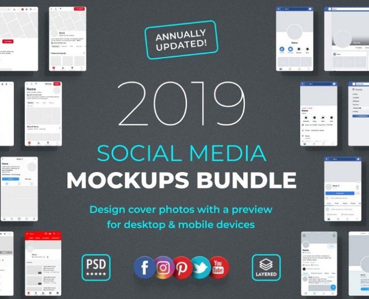 21+ Social Media Mockup PSD Free Download