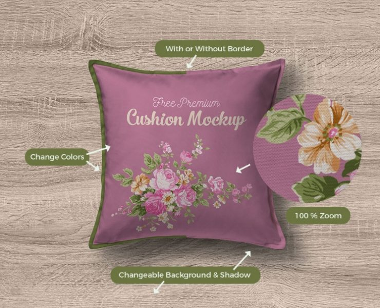 15+ Best Cushion Mockup PSD Free Download