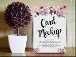 18+ Invitation Cards Mockup PSD Download
