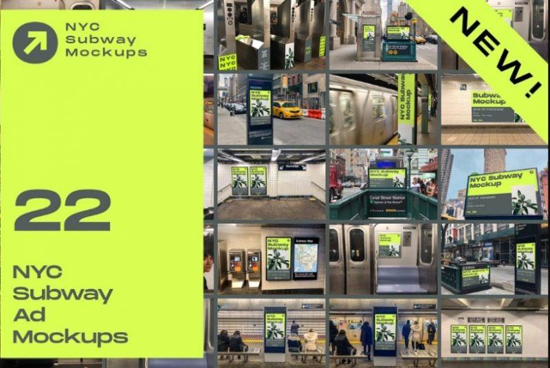 Subway Ads Mockup Bundle