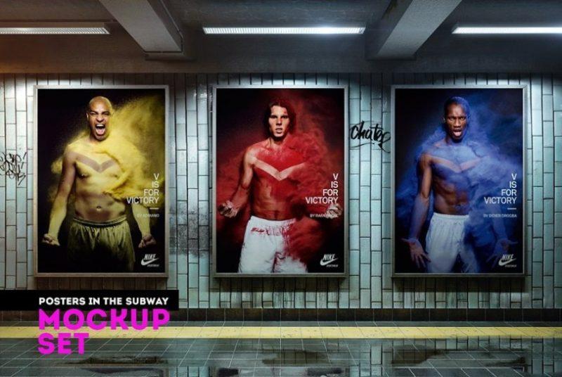 Subway Poster Mockup Set