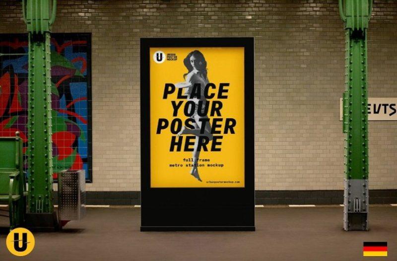 Subway Poster Mockup