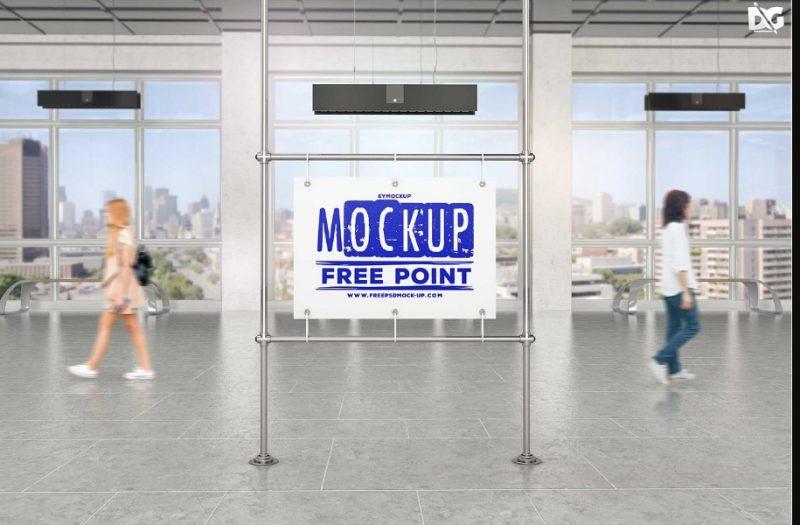 Subway Station Mockup PSD