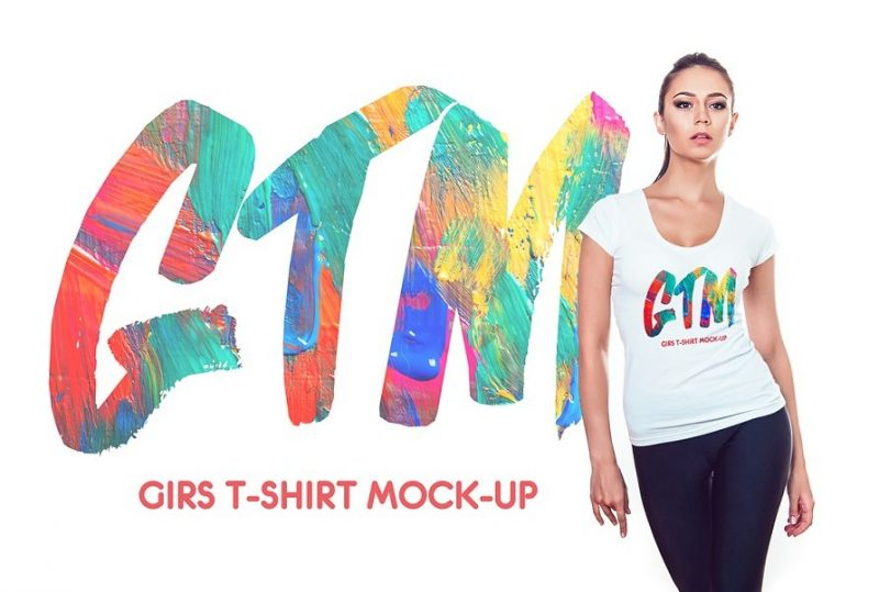 T Shirt Mockup PSD for Women