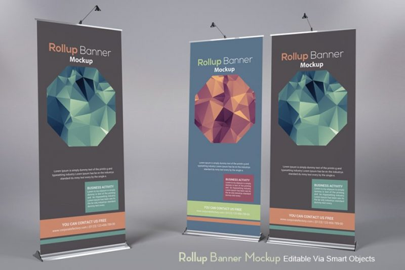 Trade Show Roll Up Banner Mockup