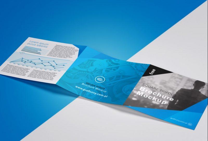 Tri Fold Leaflet Mockup PSD