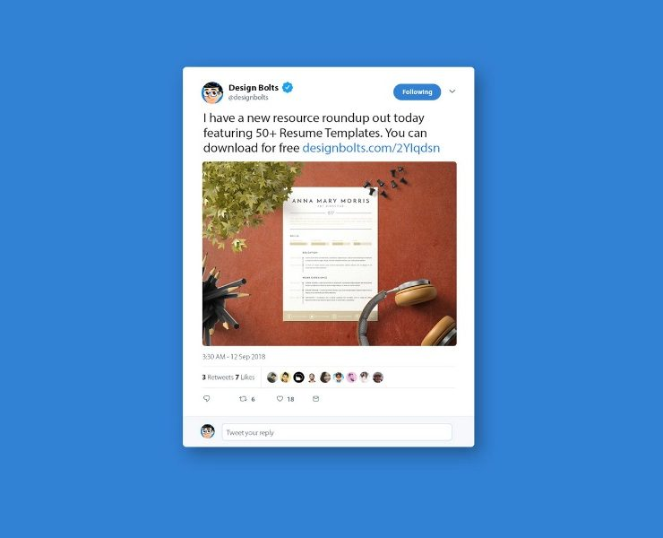 12+ Twitter Mockup PSD Free for Presentation