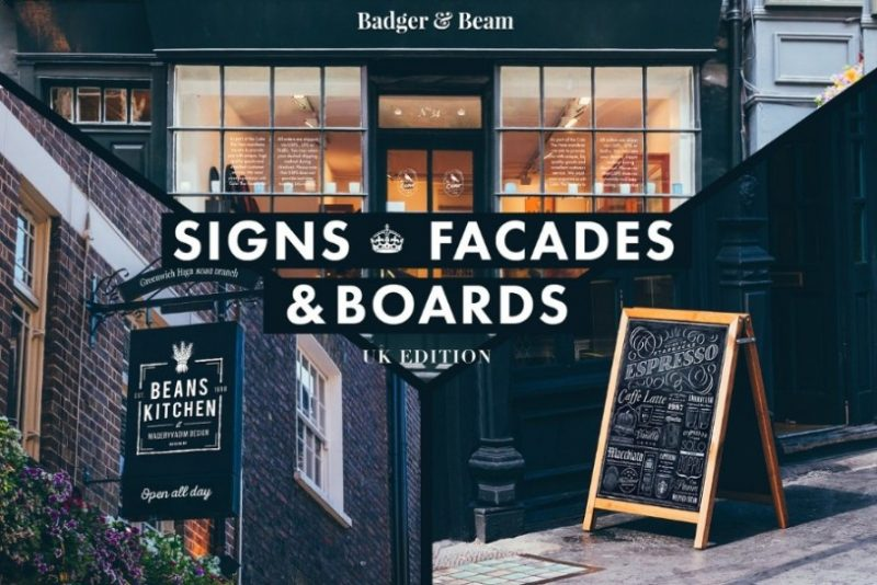 UK Edition Signs and Facade Mockup