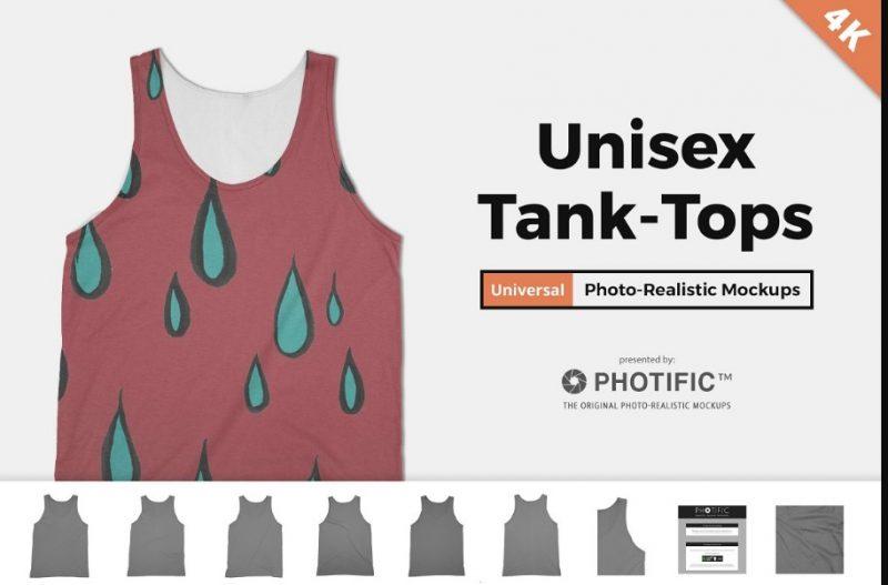 Unisex Tank Top Mockup PSD