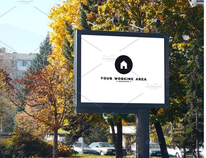 Urban Billboard Ad Mockup PSD