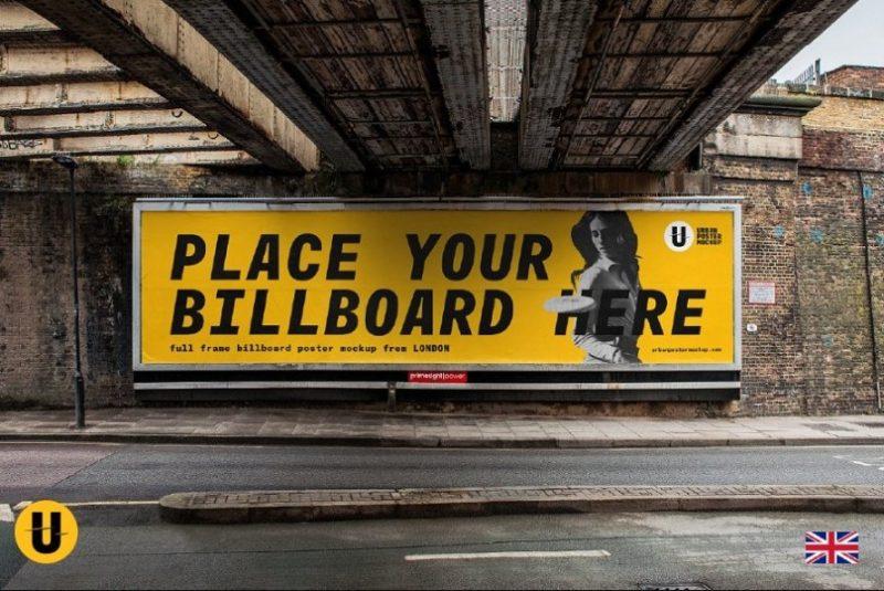 Urban Billboard Poster Mockup PSD